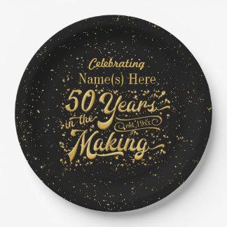 50 jaar in het Maken - Jubileum of Verjaardag Papieren Bordje