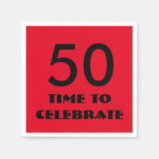 50 keer om de Servetten van de Partij te vieren Wegwerp Servetten