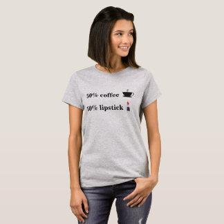 50% koffie en 50% het overhemd van t shirt