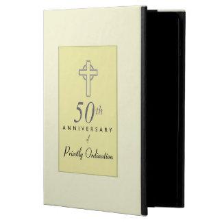 50ste Jubileum van Priester met In reliëf gemaakt iPad Air Hoesje