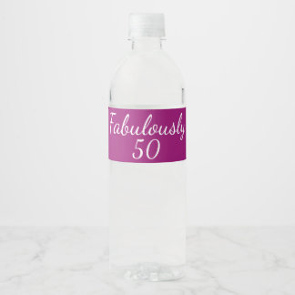 50ste verjaardag fabelachtig 50 waterfles etiket