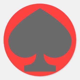 52 Spades van het kaartdek Ronde Sticker