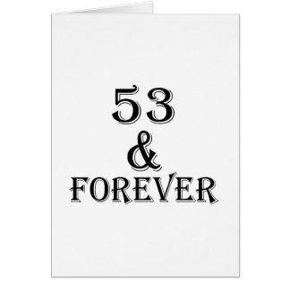 53 en voor altijd het Design van de Verjaardag Kaart