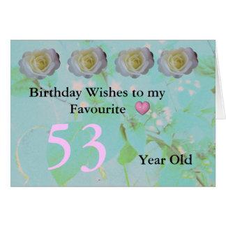 53ste Verjaardag Briefkaarten 0
