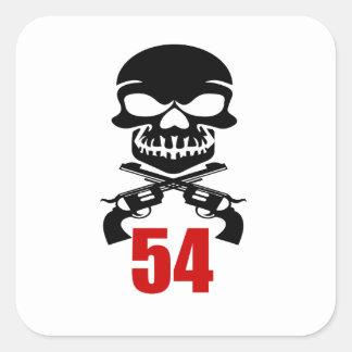 54 het Design van de verjaardag Vierkante Sticker