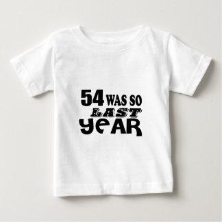 54 zo was zo vorig jaar het Design van de Baby T Shirts