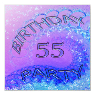 55ste de partijuitnodiging van de Verjaardag, Kaart