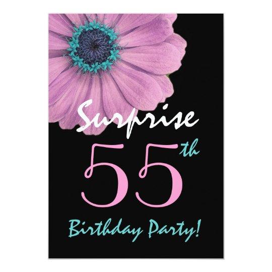 55ste Verrassing Verjaardag Mooie Roze Daisy Kaart Zazzle Nl