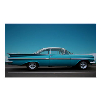 '59 Chevy in Blauw Poster