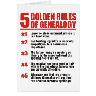 5 gouden Regels van Genealogie Wenskaart