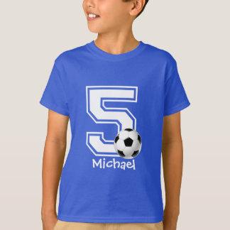 5de voetbal personaliseren-2 van het Feestvarken T Shirt