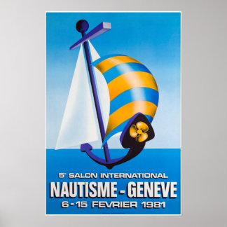 5e salon Internationale Nautisme, Genève, Poster