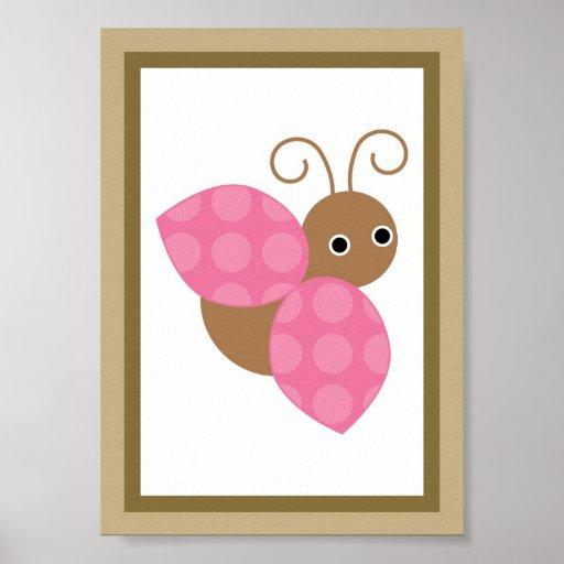 5X7 de Tuin van de bes Dame Bug Wall Art Poster