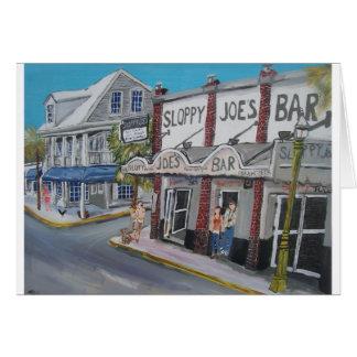 #600 Key West, Florida door BuddyDogArt Wenskaart