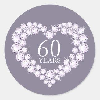 60 jaar de grijze & witte stickers van het