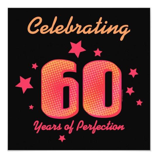 60 jaar van de Uitnodiging van de Verjaardag van