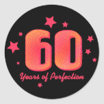 60 jaar van Perfectie Ronde Sticker