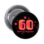 60 jaar van Perfectie Speld Buttons