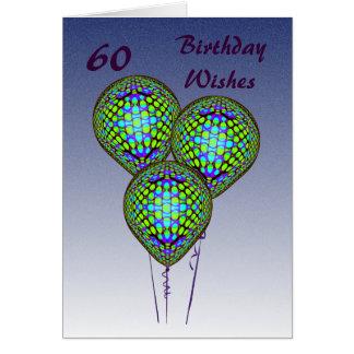 60ste Blauwe Ballons Briefkaarten 0