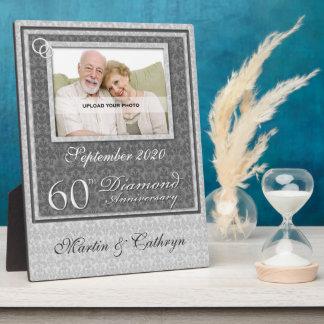 60ste Jubileum | van de Diamant de Zilveren Plaque Fotoplaten