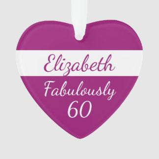 60ste roze Ornament van de Verjaardag fabelachtig