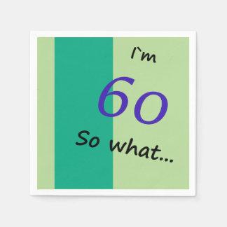 60ste Verjaardag Grappige I ` m 60 zo wat Papieren Servetten