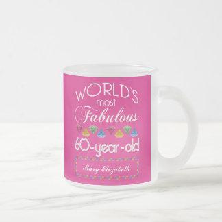 60ste Verjaardag het Meeste Fabelachtig Kleurrijk Matglas Koffiemok