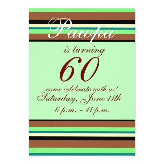 60ste verjaardagsUitnodiging 12,7x17,8 Uitnodiging Kaart