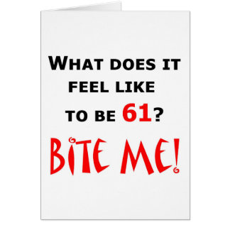 61 bijt me! kaart