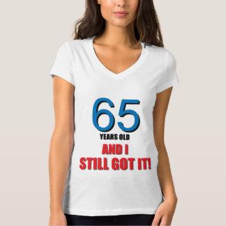 65 en ik werd het nog! t shirt