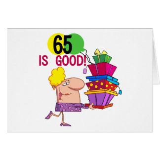 65 zijn de de Goede T-shirts en Giften van de Verj Wenskaart
