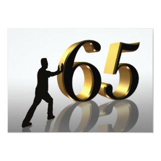 65ste de partijuitnodiging die van de Verjaardag 12,7x17,8 Uitnodiging Kaart