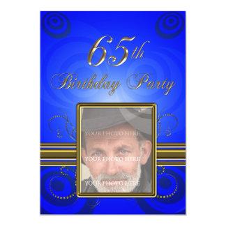 65ste de partijUitnodiging van de Verjaardag 12,7x17,8 Uitnodiging Kaart