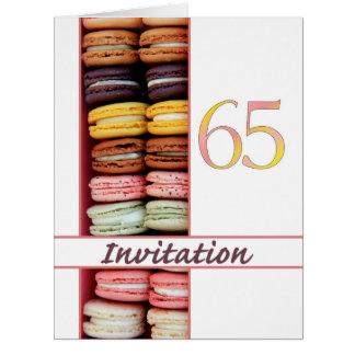 65ste de partijuitnodiging van de Verjaardag Extra Grote Wenskaart