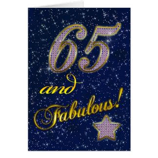 65ste de partijUitnodiging van de Verjaardag Kaart