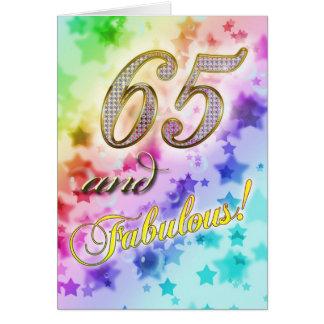 65ste de partijUitnodiging van de Verjaardag Wenskaarten
