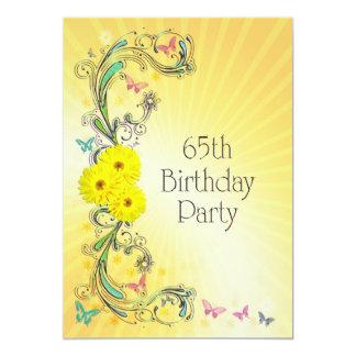 65ste de partijUitnodiging van de Verjaardag met Gepersonaliseerde Uitnodigingen