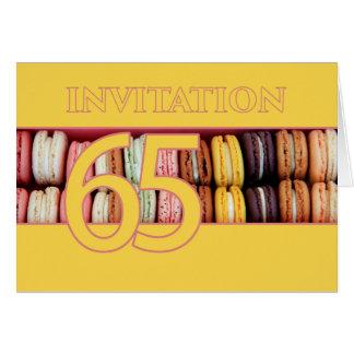 65ste de partijuitnodiging van de Verjaardag Notitiekaart