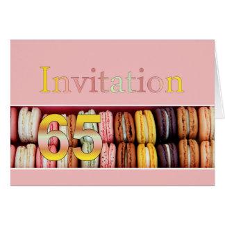 65ste de partijuitnodiging van de Verjaardag Wenskaart