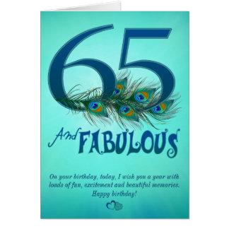 65ste de sjabloonKaarten van de Verjaardag