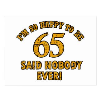 65ste éénjarigengiften briefkaart