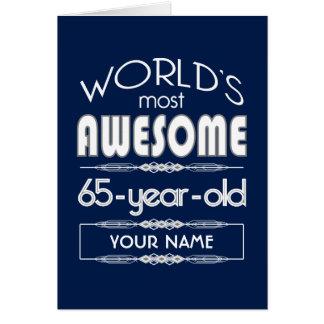 65ste Fabelachtige Donkerblauw van de Werelden van Wenskaart