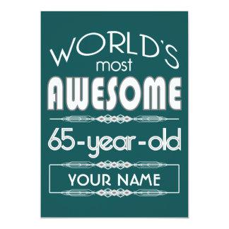 65ste Fabelachtige Donkergroen van de Werelden van 12,7x17,8 Uitnodiging Kaart