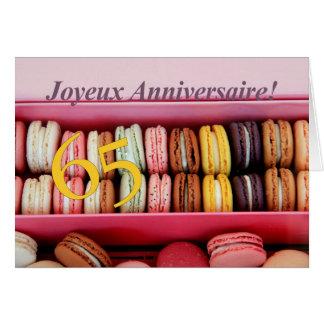 65ste Franse Verjaardag macaron-Joyeux Wenskaart