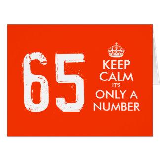 65ste kaart   van de Verjaardag houdt Kalm het is