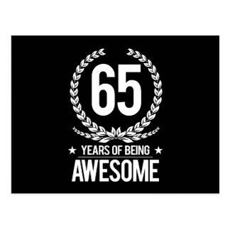 65ste Verjaardag (65 Jaar van Geweldige het Zijn) Briefkaart