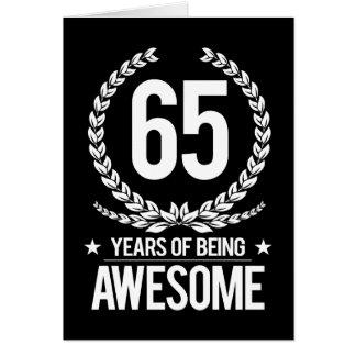 65ste Verjaardag (65 Jaar van Geweldige het Zijn) Wenskaart