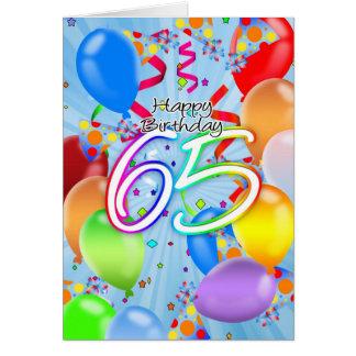 65ste Verjaardag - de Kaart van de Verjaardag van