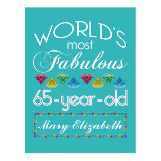 65ste Verjaardag de Meeste Fabelachtige Kleurrijke Briefkaart