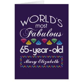 65ste Verjaardag de Meeste Fabelachtige Kleurrijke Wenskaart